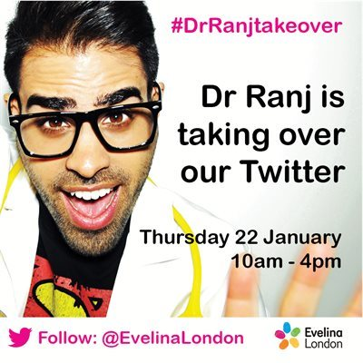 Dr Ranj Singh is taking part in a special Evelina London Twitter takeover