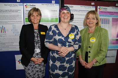 Guy's and St Thomas' Chief Nurse Dame Eileen Sills, Kate Granger, and Jane Cummings at the conference