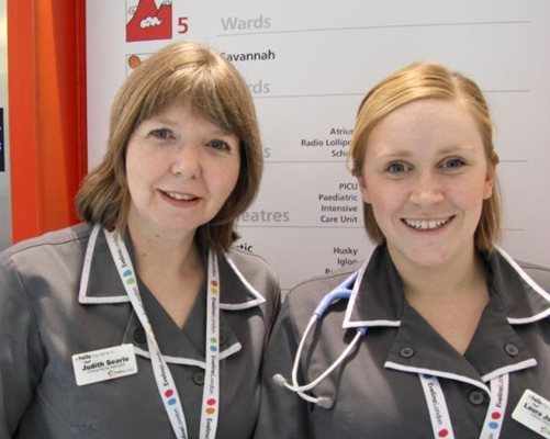 Asthma nurses Judith Searle and Laura Johnston