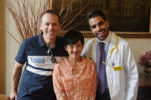 Dr Ranj and Chris & Pui from CBeebies enjoying the day