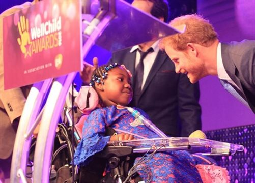 Myzat meets Prince Harry at WellChild Awards