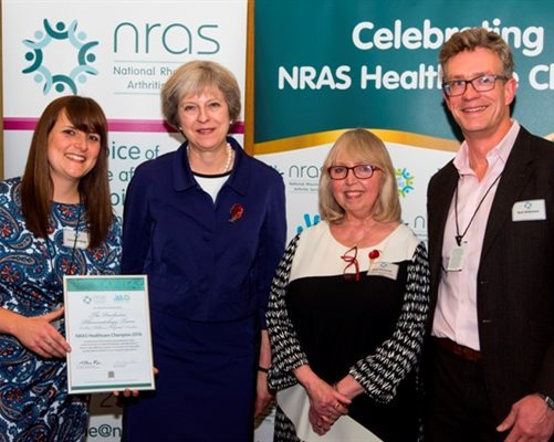 Rheumatology award presented by Theresa May