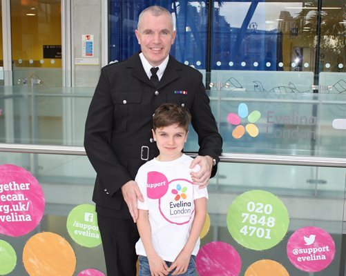 London Fire Brigade Deputy Assistant Commissioner Andy Roe and his son, Zaki