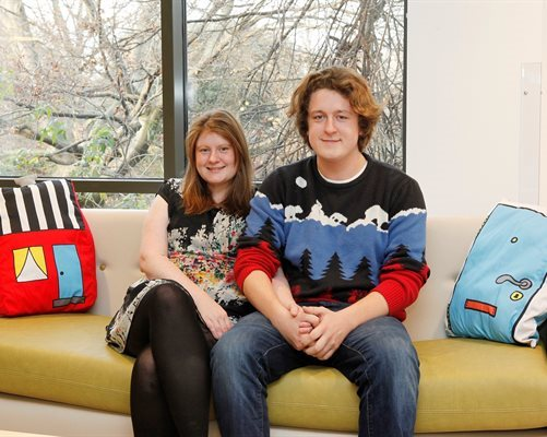 Parents Lucy Helling and Thomas Madden were among the first to move in to Ronald McDonald House Evelina London
