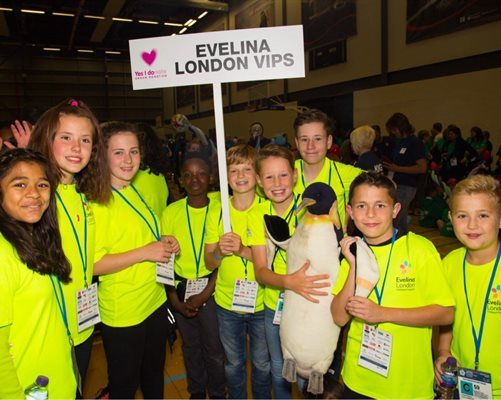 Young people from the Evelina London VIPs team getting ready for the British Transplant Games 2017