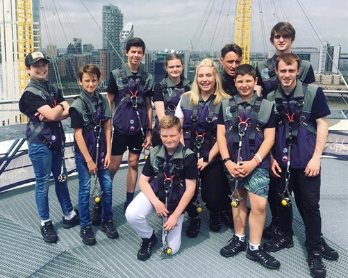 ECHO teens at the summit of The O2