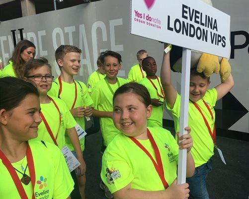 Children taking part in the athletes march at the British Transplant Games opening ceremony