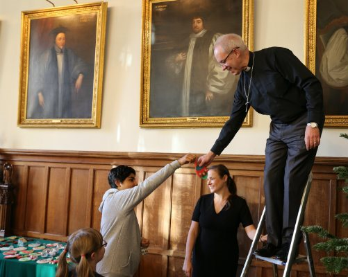 Decorating Lambeth Palace with the Archbishop of Canterbury
