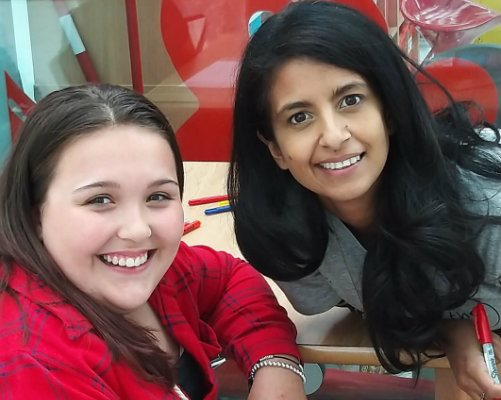 Our patient, Isobel, and Konnie Huq