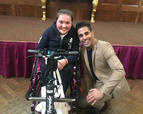 Isabelle Everest and Dr Ranj at the Evelina London Inspiring Youth Conference
