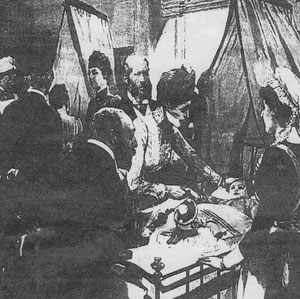 Edward VII visited the hospital in 1890