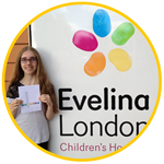 Katie Braybrook outside Evelina London hospital