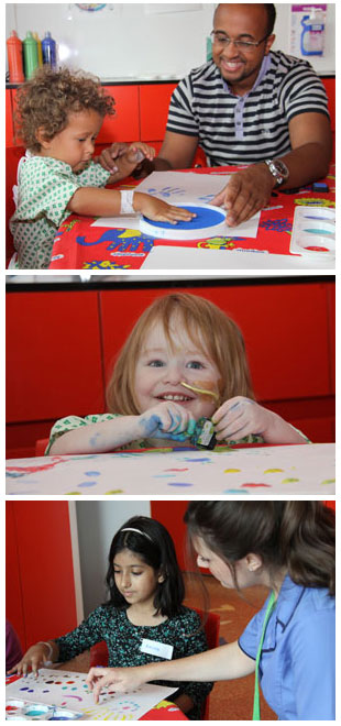 Finger painting at Evelina London