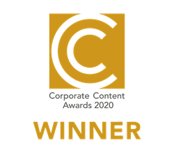 Corporate Content Awards 2020 Gold winner