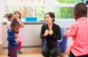 Speech and language therapy session at Mary Sheridan Centre