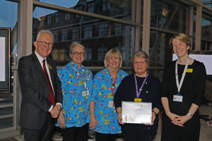 The phlebotomy team at Evelina London were selected as Evelina 150 Stars for January