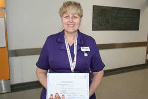 Ellen Samuel, matron, one of our Evelina 150 Stars