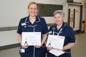 Snow Fox ward managers, two of our Evelina 150 stars