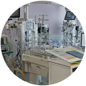 Neonatal ward and equipment