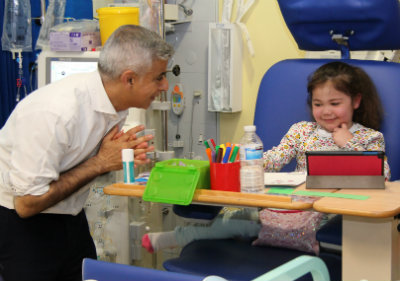 Mayor of London with little girl