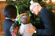 Christmas tree decorating with the Archbishop of Canterbury