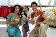 Aladdin and friends drop in to Evelina London