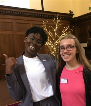 Dr Ronx and Katie smiling at our Inspiring Youth Conference.