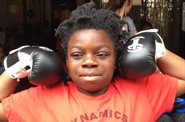 Evelina London inspires schoolboy with cerebral palsy to take up boxing