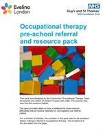 The cover of the preschool pack produced by our occupational health team