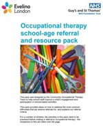 The cover of the school pack produced by our occupational health team