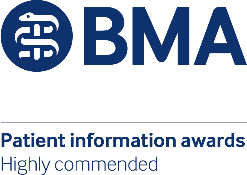 BMA Patient information awards highly commended logo