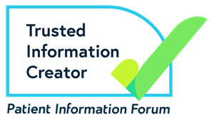 Trusted information creator logo with a green tick