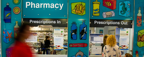 Pharmacy - picking up medicines